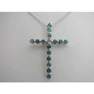 天然 アレキサンドライト 0.70CT クロスモチーフ18KWG ダイヤモンドペンダントネックレス【誕生石6月】|alljewelry