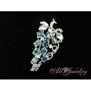 天然 アレキサンドライト 「美しい甲府の葡萄ブローチ」【誕生石6月】【送料無料】|alljewelry