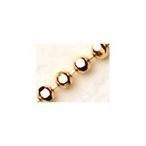 K18 カットボールチェーン 幅1.5mm【60cm】|alljewelry