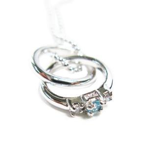 2連 リング ネックレス 「超希少石!ダイヤ×パライバトルマリン」|alljewelry