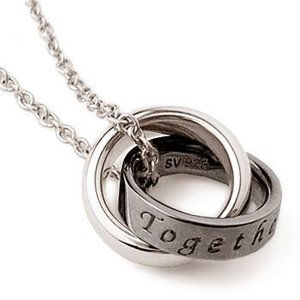 メッセージ リング ペアネックレス Together for Ever.(いつまでも一緒に) メンズ|alljewelry