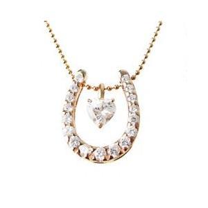 3way馬蹄 ネックレス (PinkGoldコーティング)|alljewelry