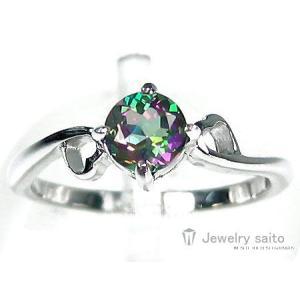 天然 ミスティックトパーズ*ハートモチーフ* リング☆【即納】|alljewelry