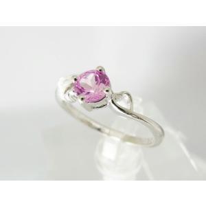 Labピンクサファイア ハートモチーフ リング【即納】|alljewelry