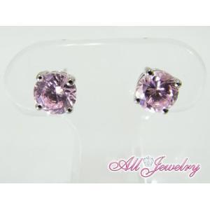ピンクCZ(キュービック・ジルコニア)・6mm一粒 ピアス (CZ Pink Diamond Pierce)【即納】|alljewelry|03