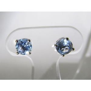 天然 スカイブルートパーズ・6mm一粒 ピアス (Sky Blue Topaz Pierce)|alljewelry|03