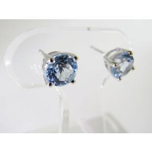 天然 スカイブルートパーズ・6mm一粒 ピアス (Sky Blue Topaz Pierce)|alljewelry|04