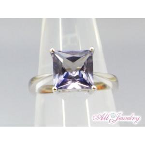 プリンセスカットLab アレキサンドライト リング【誕生石6月】【即納】|alljewelry