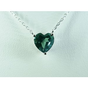 アレキサンドライト(シンセティック) Heart 大粒8mmネックレス【即納】 alljewelry