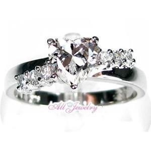 ピュアホワイト ハートリング【即納】【バレンタイン】【プレゼントに最適】 alljewelry