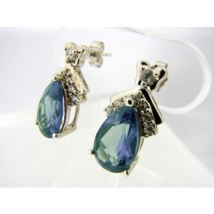 アレキサンドライト Corundum5.3カラット- 11x7mm Pear ピアス 【誕生石6月】【即納】|alljewelry
