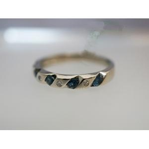 天然アレキサンドライト スリーストーン スクリューリング alljewelry