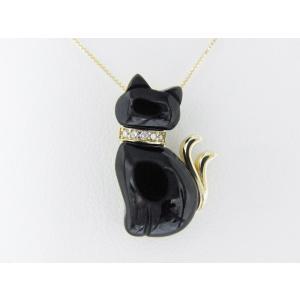 【necomata】幸運のシンボル黒猫のねこまたさん ペンダントネックレス K10YG alljewelry 03