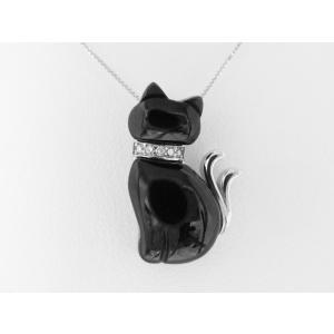 【necomata】幸運のシンボル黒猫のねこまたさん ペンダントネックレス K10WG|alljewelry|03