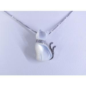 【necomata】幸運のシンボル白猫のねこまたさん ペンダントネックレス シルバー|alljewelry|03