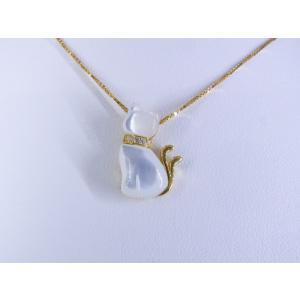 【necomata】幸運のシンボル白猫のねこまたさん ペンダントネックレス K10YG|alljewelry|03