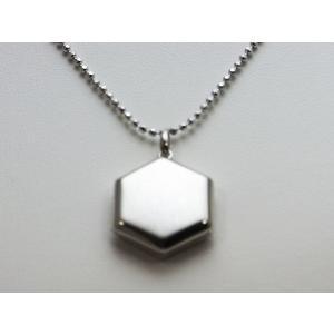 ロケットペンダント ペンダント トップ プラチナ六角型[小]|alljewelry