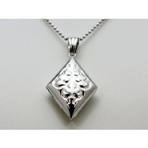 ロケットペンダント ペンダント トップ 菱型[大]プラチナ模様|alljewelry
