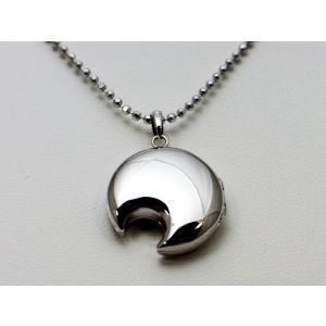 ロケットペンダント ペンダント トップ 18金イエローゴールド 月型[小]|alljewelry