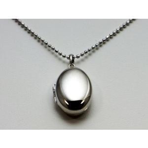 ロケットペンダント ペンダント トップ プラチナ小判型[大]|alljewelry|02