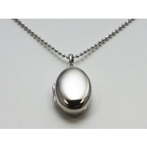 ロケットペンダント ペンダント トップ プラチナ小判型[中]|alljewelry