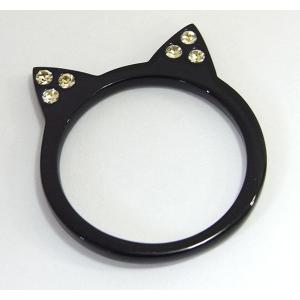 【mimiring】くろねこ ミミリング(ブラック×イエロー)【即納】|alljewelry