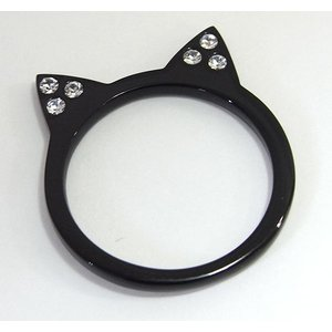 【mimiring】くろねこ ミミリング(ブラック×クリア)【即納】 alljewelry