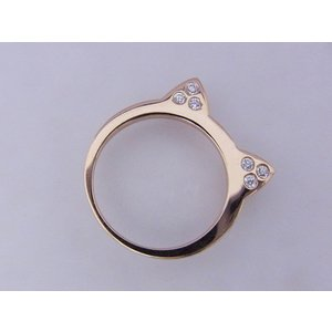 【mimiring】ミミリング プレミアム(18KPG×ダイヤモンド)|alljewelry