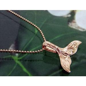 ハワイアンジュエリー ピンク シルバー ペンダントトップ 「ホエールテール カッティング」|alljewelry