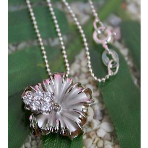 ハワイアンジュエリー シルバーペンダントトップ 「シルバー ハイビスカス ジルコニア入り」|alljewelry