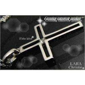 ララクリスティー LARA Christie トゥモロー クロス ネックレス [ WHITE Label ホワイトレーベル] 【送料無料】【即納】【 alljewelry