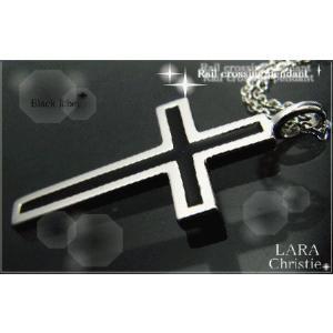 ララクリスティー LARA Christie レールクロス ネックレス [ BLACK Label ブラックレーベル] 【送料無料】【即納】【バレン alljewelry
