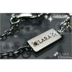 ララクリスティー LARA Christie ネックレス チェーン 40cm [ BLACK Label ブラックレーベル] 【送料無料】【即納】【 alljewelry