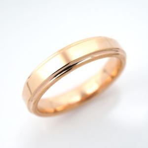 タングステン リング 段付平打 4.0mm幅 ピンク【即納】 alljewelry