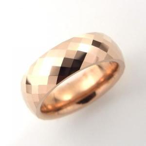 タングステン リング 6.0mm幅 3列カット ピンク【即納】|alljewelry