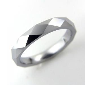 タングステン リング 3.0mm幅 1列カット シルバー【即納】|alljewelry