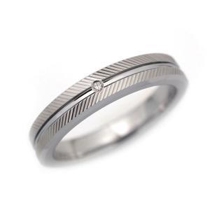 タングステン 4mm幅 天然ダイヤモンド 斜めカット リング シルバー alljewelry