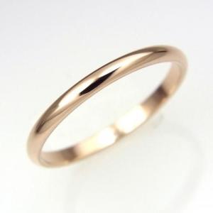 ステンレス リング 2mm幅 ピンク【即納】|alljewelry