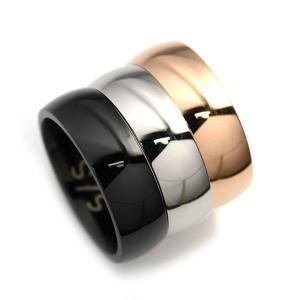 ステンレス 6mm幅 甲丸リング ブラック【即納】|alljewelry|04