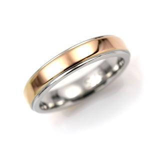 ステンレス 4mm幅 1段平打リング ピンク【即納】|alljewelry