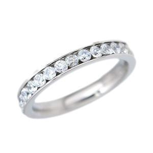 ステンレス CZフルエタニティリング シルバー【即納】|alljewelry