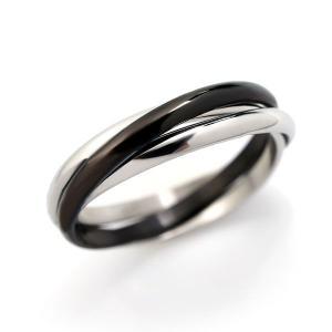 ステンレス 3連リング ブラック|alljewelry