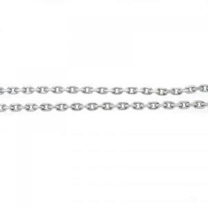 ステンレスチェーン アズキ 4面カット 幅2.2mm alljewelry