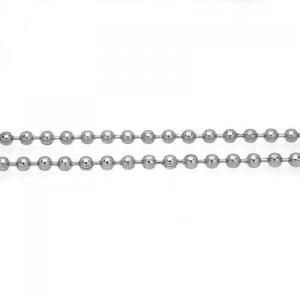 ステンレス チェーン ボールチェーン100cm [幅2.4mmタイプ]【即納】|alljewelry
