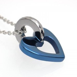 タングステン ペンダント トップ ハート ライトブルー【即納】|alljewelry|03