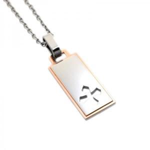 ステンレス クロス デザインプレート ピンク【即納】|alljewelry