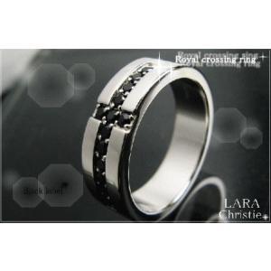 ララクリスティー LARA Christie ロイヤル クロス リング [ BLACK Label ブラックレーベル] 【送料無料】【即納】【バレン|alljewelry