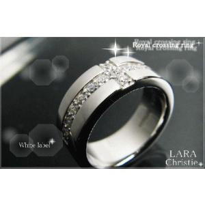 ララクリスティー LARA Christie ロイヤル クロス リング [ WHITE Label ホワイトレーベル] 【送料無料】【即納】【バレン|alljewelry