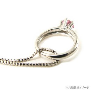 ベビーリング ネックレス ホワイトゴールド K10 【1月誕生石】|alljewelry|03