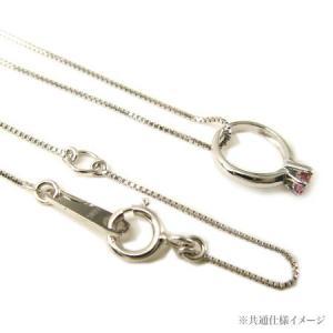 ベビーリング ネックレス ホワイトゴールド K10 【1月誕生石】|alljewelry|04